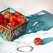 Tomato Basket Art Print