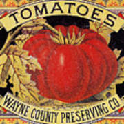Tomato Can Label Art Print