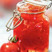 Tomato Jam In Glass Jar Art Print