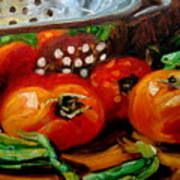Tomatoes And Onions Art Print