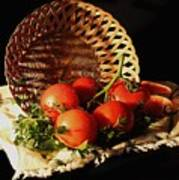 Tomatos. Out Of Basket. Art Print