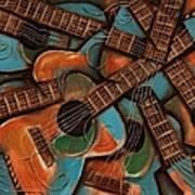 Tommervik Abstract Guitars Art Print Art Print