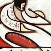 Tommervik Elvis Red Cape Art Print  Art Print