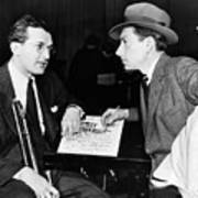 Tommy Dorsey And Hoagy Carmichael, 1939 Art Print