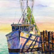 Tonyo Shrimp Boat Art Print