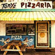 Tony's Pizzaria Print by Ron Regalado