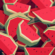 Too Many Watermelons Art Print
