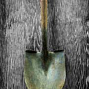 Tools On Wood 15 On Bw Art Print