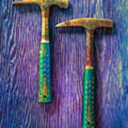 Tools On Wood 65 Art Print