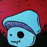 Toothed Zombie Mushroom 2 Art Print