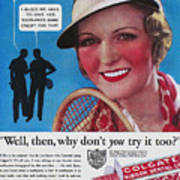 Toothpaste Ad, 1932 Print by Granger
