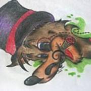 Top Hat Fox Art Print