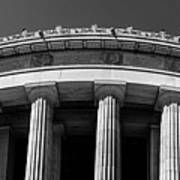 Top Portion Of A Lincoln Memorial Old Greek Architecture Art Print
