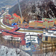 Top View. Krasnaya Polyana. Art Print