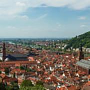 Top View Of Heidelberg, Germany. Art Print
