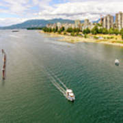 Top View Of English Bay In Summer, Vancouver Bc. Art Print