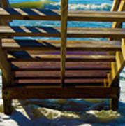 Topsail Island Ocean Steps Art Print