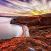 Tor Bay Sunset Art Print