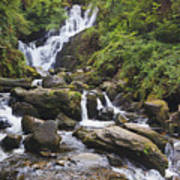 Torc Waterfall In Killarney National Art Print