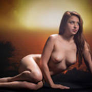 Toriwaits Nude Fine Art Print Photograph In Color 5075.02 Art Print