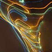 Tornado Of Lights. Dancing Lights Series Art Print
