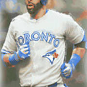 Toronto Blue Jays Jose Bautista Art Print