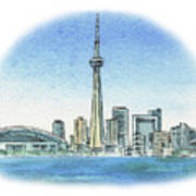 Toronto Canada City Skyline Art Print