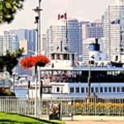 Toronto Island Ferry Arrives Art Print