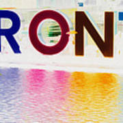 Toronto Sign In Muted Colours Art Print