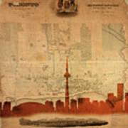 Toronto Skyline 36 Art Print