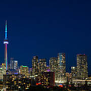 Toronto Skyline And World Pride Art Print