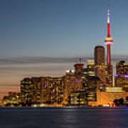 Toronto Skyline At Dusk Art Print