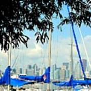 Toronto Through A Forest Of Masts Art Print