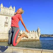 Torre De Belem Jumping Art Print