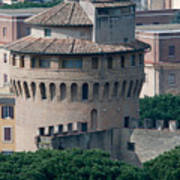 Torre San Giovanni St Johns Tower On The Ramparts Of The Walls Of The Vatican City Rome Art Print