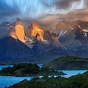 Torres Del Paine National Park, Chile Art Print