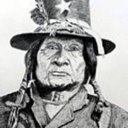 Tosawi Comanche Chief Art Print