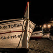 Tossa De Mar By Night Art Print