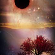 Total Eclipse Of The Sun Tree Art Art Print