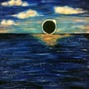 Totality On The Sea - Solar Eclipse  Art Print