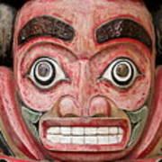 Totem Pole Detail Art Print