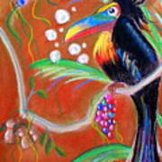 Toucanwine Bird Art Print