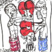 Touch Gloves Art Print by Robert Wolverton Jr