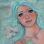Touch Of Spring Mermaid Art Print