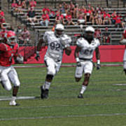 Rutgers Touchdown - Janarion Grant Art Print