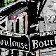 Toulouse And Bourbon Art Print