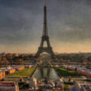 Tour Eiffel Art Print by Philippe Saire - Photography