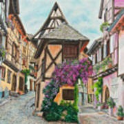 Touring In Eguisheim Art Print
