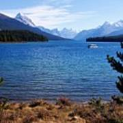 Touring Maligne Lake Art Print