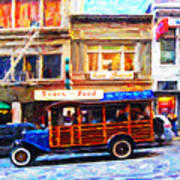 Touring The Streets Of San Francisco Print by Wingsdomain Art and Photography